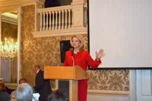 Tracy Davidson Presenting Award at Baker Industries