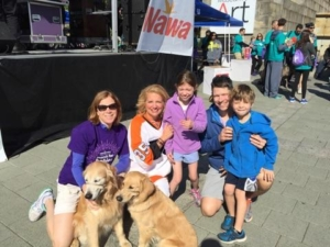 my friend Cailin and her family march of dimes annual photo with Tracy and Cailin
