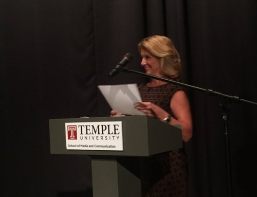 Tracy emcee's the Temple U Awards Dinner